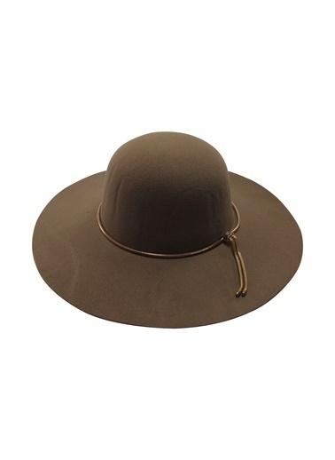 Laslusa İçten Ayarlanabilir Geniş Kenar Keçe Şapka Vizon